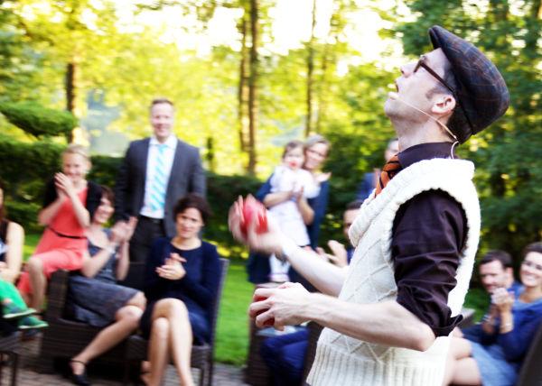 Zauberer auf Hochzeitsfeier und Party