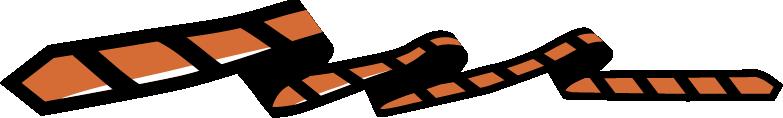 Krawatte längs gestreift